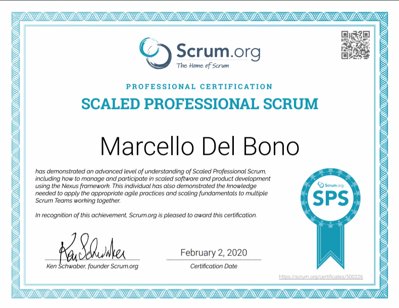 Scaled Professional Scrum Badge